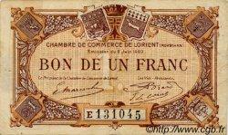1 Franc FRANCE régionalisme et divers Lorient 1920 JP.075.36 TB