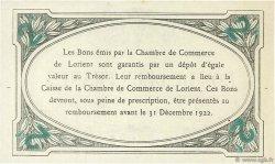 2 Francs FRANCE régionalisme et divers LORIENT 1920 JP.075.37 SPL à NEUF