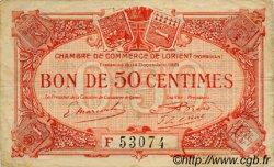 50 Centimes FRANCE régionalisme et divers LORIENT 1921 JP.075.38 TB