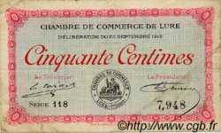 50 Centimes FRANCE régionalisme et divers LURE 1915 JP.076.01 TB
