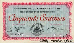 50 Centimes FRANCE régionalisme et divers LURE 1915 JP.076.05 TTB à SUP