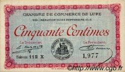 50 Centimes FRANCE régionalisme et divers Lure 1915 JP.076.13 TTB à SUP