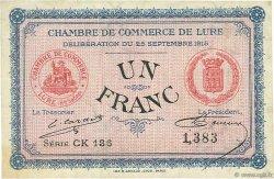 1 Franc FRANCE régionalisme et divers LURE 1915 JP.076.16 TTB à SUP
