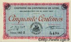50 Centimes FRANCE régionalisme et divers LURE 1917 JP.076.18 SPL à NEUF