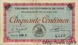 50 Centimes FRANCE régionalisme et divers Lure 1917 JP.076.18 TTB à SUP