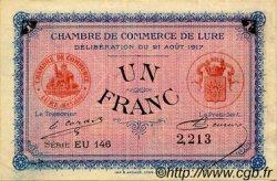 1 Franc FRANCE régionalisme et divers Lure 1917 JP.076.22 TTB à SUP