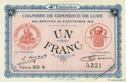 1 Franc FRANCE régionalisme et divers LURE 1918 JP.076.26 SPL à NEUF
