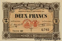 2 Francs FRANCE régionalisme et divers Lure 1918 JP.076.30 SPL à NEUF