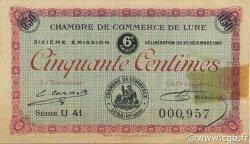 50 Centimes FRANCE régionalisme et divers Lure 1920 JP.076.36 TTB à SUP