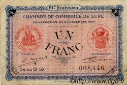 1 Franc FRANCE régionalisme et divers Lure 1920 JP.076.37 TB