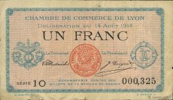 1 Franc FRANCE régionalisme et divers Lyon 1914 JP.077.01 TB