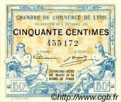 50 Centimes FRANCE régionalisme et divers LYON 1915 JP.077.03 SPL à NEUF