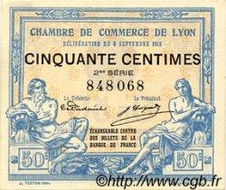 50 Centimes FRANCE régionalisme et divers Lyon 1915 JP.077.04 TTB à SUP