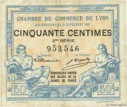 50 Centimes FRANCE régionalisme et divers Lyon 1915 JP.077.04 TB