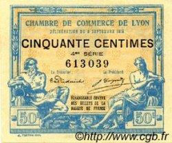 50 Centimes FRANCE régionalisme et divers LYON 1915 JP.077.05 SPL à NEUF