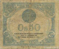 50 Centimes FRANCE régionalisme et divers LYON 1915 JP.077.05 TB