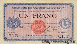 1 Franc FRANCE régionalisme et divers LYON 1915 JP.077.06 TB