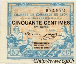 50 Centimes FRANCE régionalisme et divers LYON 1916 JP.077.12 SPL à NEUF