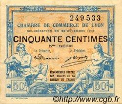 50 Centimes FRANCE régionalisme et divers LYON 1916 JP.077.12 TTB à SUP