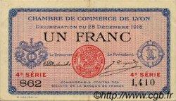 1 Franc FRANCE régionalisme et divers Lyon 1916 JP.077.13 TTB à SUP
