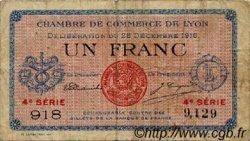 1 Franc FRANCE régionalisme et divers LYON 1916 JP.077.13 TB