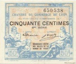 50 Centimes FRANCE régionalisme et divers LYON 1917 JP.077.14 SPL à NEUF