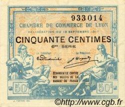50 Centimes FRANCE régionalisme et divers Lyon 1917 JP.077.14 TTB à SUP