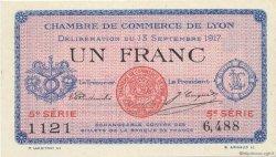 1 Franc FRANCE régionalisme et divers LYON 1917 JP.077.15 SPL à NEUF