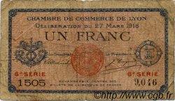 1 Franc FRANCE régionalisme et divers Lyon 1918 JP.077.17 TB