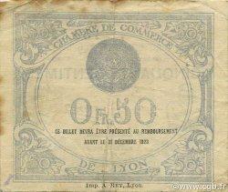 50 Centimes FRANCE régionalisme et divers LYON 1919 JP.077.18 TB