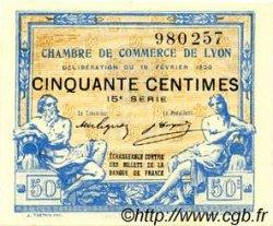 50 Centimes FRANCE régionalisme et divers Lyon 1920 JP.077.20 TTB à SUP