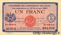 1 Franc FRANCE régionalisme et divers LYON 1920 JP.077.21 SPL à NEUF