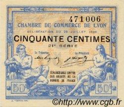 50 Centimes FRANCE régionalisme et divers Lyon 1920 JP.077.22 SPL à NEUF