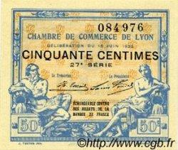 50 Centimes FRANCE régionalisme et divers Lyon 1922 JP.077.26 TTB à SUP
