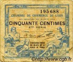 50 Centimes FRANCE régionalisme et divers Lyon 1922 JP.077.26 TB