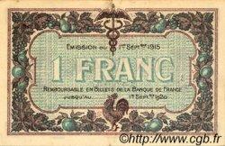 1 Franc FRANCE régionalisme et divers MACON, BOURG 1915 JP.078.03 TTB à SUP