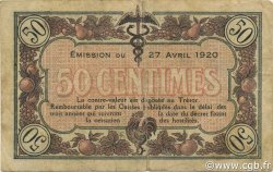 50 Centimes FRANCE régionalisme et divers MACON, BOURG 1920 JP.078.11