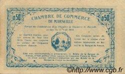 50 Centimes FRANCE régionalisme et divers MARSEILLE 1914 JP.079.37 TTB à SUP
