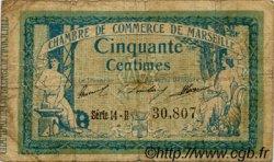 50 Centimes FRANCE régionalisme et divers MARSEILLE 1914 JP.079.37 TB