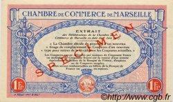1 Franc FRANCE régionalisme et divers Marseille 1917 JP.079.71 SPL à NEUF