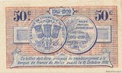 50 Centimes FRANCE régionalisme et divers Melun 1915 JP.080.01 SPL à NEUF