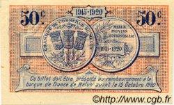 50 Centimes FRANCE régionalisme et divers MELUN 1915 JP.080.01 TTB à SUP