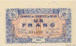 1 Franc FRANCE régionalisme et divers Melun 1915 JP.080.03 SPL à NEUF