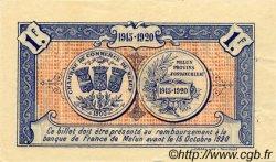 1 Franc FRANCE régionalisme et divers MELUN 1915 JP.080.03 TTB à SUP