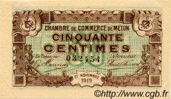50 Centimes FRANCE régionalisme et divers Melun 1919 JP.080.07 TTB à SUP