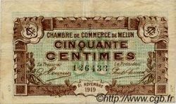 50 Centimes FRANCE régionalisme et divers MELUN 1919 JP.080.07 TB