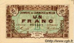 1 Franc FRANCE régionalisme et divers MELUN 1919 JP.080.08 TTB à SUP