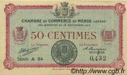 50 Centimes FRANCE régionalisme et divers MENDE 1917 JP.081.01 SPL à NEUF