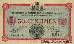 50 Centimes FRANCE régionalisme et divers MENDE 1917 JP.081.01 TTB à SUP