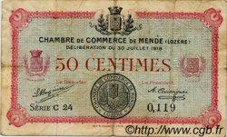50 Centimes FRANCE régionalisme et divers Mende 1918 JP.081.05 TB